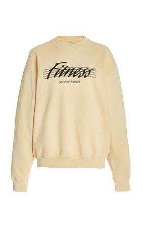 80s Fitness Cotton Sweatshirt By Sporty & Rich | Moda Operandi