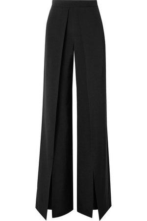 Cushnie | Pleated silk-crepe wide-leg pants | NET-A-PORTER.COM