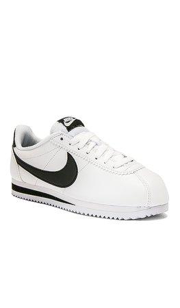 Nike Classic Cortez Sneaker in White | REVOLVE