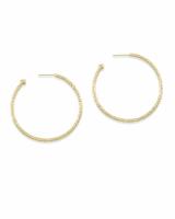Hammered Hoop Earrings in Gold | Kendra Scott