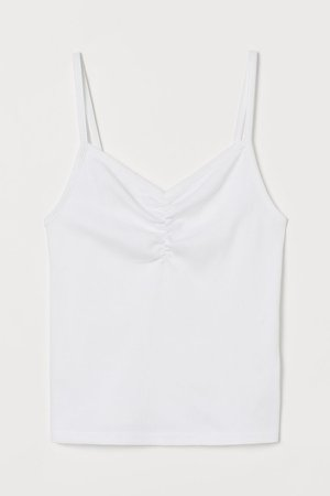 Ribbed Tank Top - White