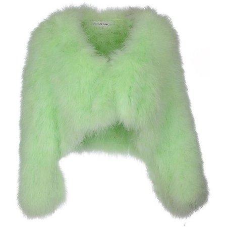 green fur jacket png