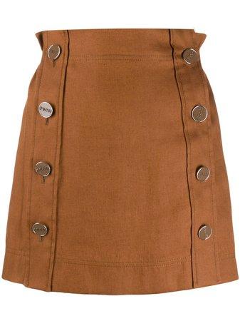 Emilio Pucci Buttoned Mini Skirt - Farfetch