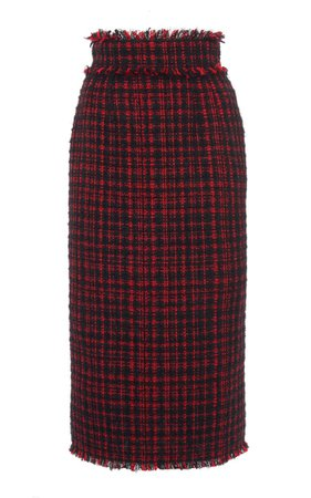 Fringe-Trimmed Tweed Pencil Skirt By Dolce & Gabbana | Moda Operandi