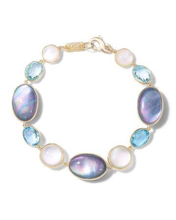 Ippolita 18K Rock Candy Luce All-Stone Flexible Bracelet in Blu Notte | Neiman Marcus