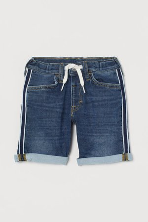 Super Soft Denim Shorts - Blue