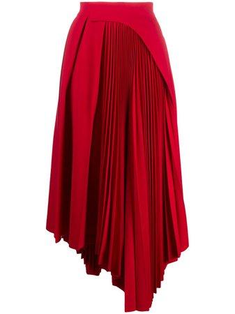 AMBUSH pleated asymmetric skirt - FARFETCH