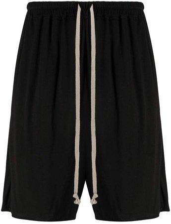 drawstring waist bermuda shorts