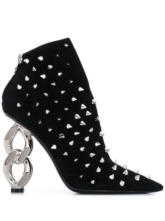 Balmain Studded Ankle Boots Aw19