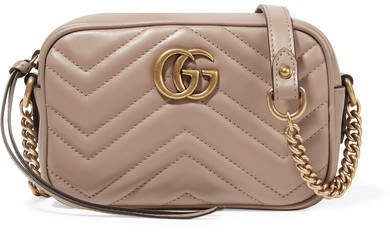Gg Marmont Camera Mini Quilted Leather Shoulder Bag - Antique rose