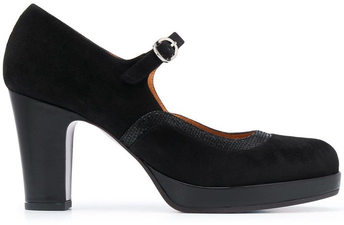 Mary-Jane Leather Pump