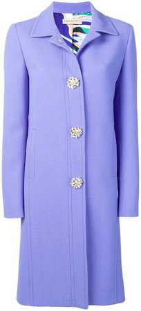 Jewelled Button Coat