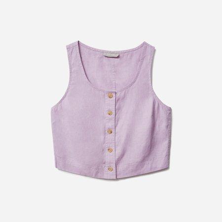 Women's Linen Button-Front Crop Tank | Everlane