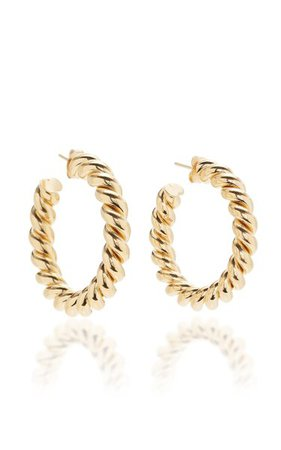 Small Gold-Plated Hoop Earrings By Isabel Lennse | Moda Operandi