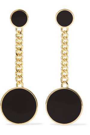 ARME DE L'AMOUR Gold-plated enamel earrings