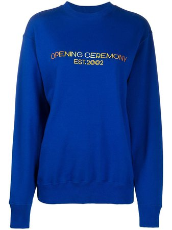 Opening Ceremony Embroidered Logo Sweatshirt - Farfetch