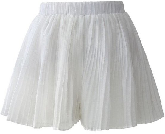 Chicwish Pleated Crepe Shorts
