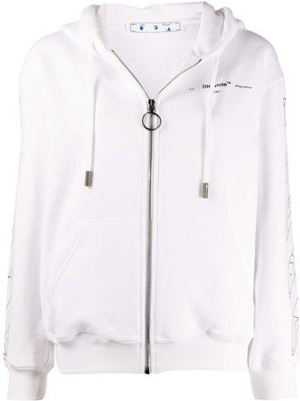 Off White puzzle print hoodie