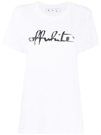 Off-White Logo Print T-shirt - Farfetch