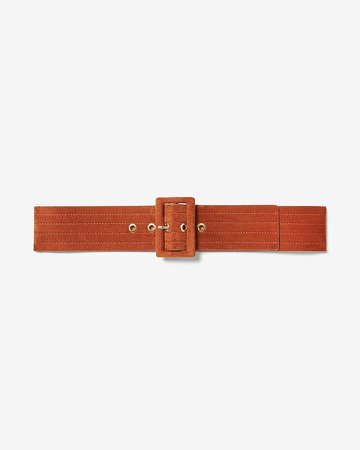 Velvet Rectangle Buckle Belt