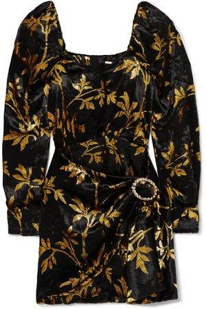 Dodo Bar Or   Mona draped metallic velvet-jacquard mini dress   NET-A-PORTER.COM