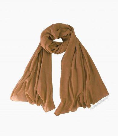 Caramel Brown Chiffon Hijab