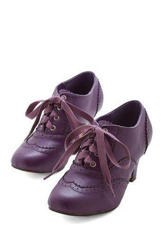 violet vintage shoes