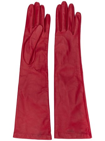 Rochas Long Leather Gloves