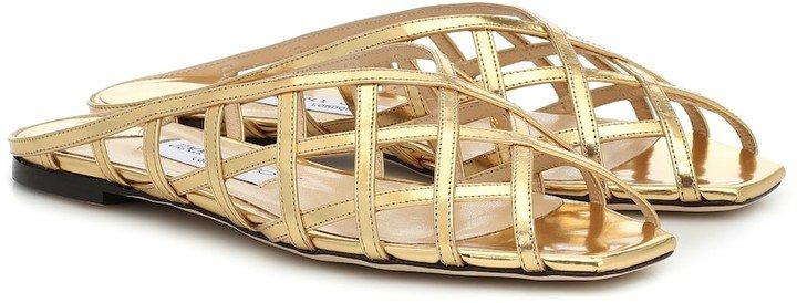 Sai metallic leather sandals