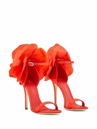 Giuseppe Zanotti Peony satin-trim sandals - FARFETCH
