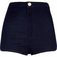 Ladies Womens Shiny High Waist American Sexy Disco Shorts Button Zip Hot Pants