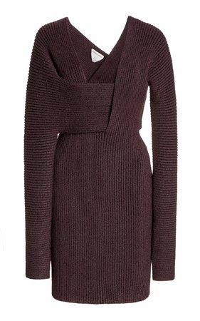 Ribbed-Knit Mini Dress by Bottega Veneta   Moda Operandi