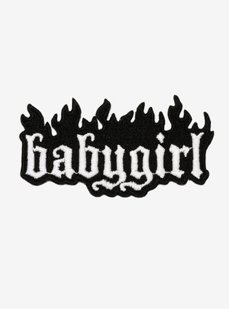 Baby Girl Flames Patch