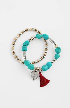 Turquoise Skies Stretch Bracelet | JJill