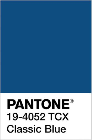 Pantone Color of the Year 2020: PANTONE 19-4052 Classic Blue - Fashion Trendsetter
