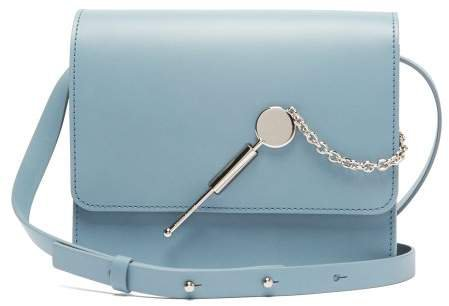 Cocktail Large Leather Cross Body Bag - Womens - Blue