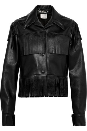 Stella McCartney | Fringed faux textured-leather jacket | NET-A-PORTER.COM