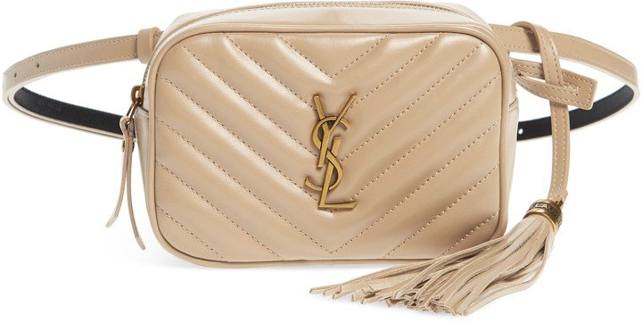 Lou Matelasse Leather Belt Bag