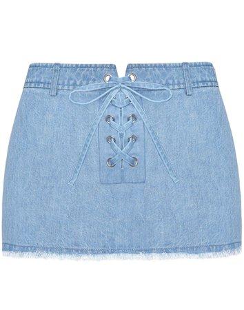 Katana Denim Mini Skirt