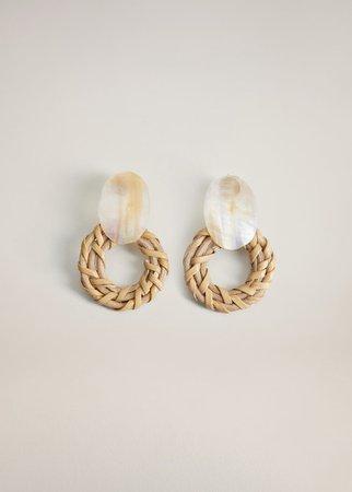 Combined shell earrings - Women | Mango United Kingdom
