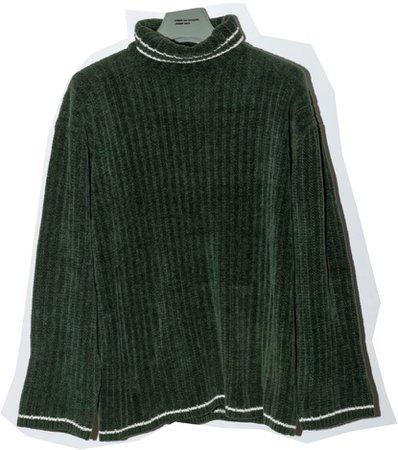 soft dark green sweater