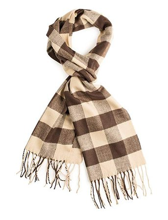 Plum Feathers Cashmere Winter Scarf