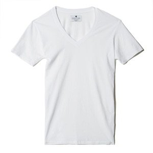plain white v neck tee