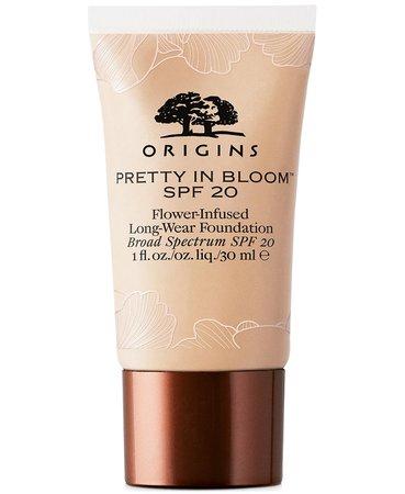 3 Foundation Origins Pretty In Bloom Flower-Infused Long-Wear Foundation SPF 20, 1-oz. & Reviews - Foundation - Beauty - Macy's
