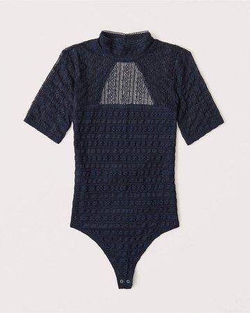 Women's Mockneck Lace Bodysuit | Women's New Arrivals | Abercrombie.com