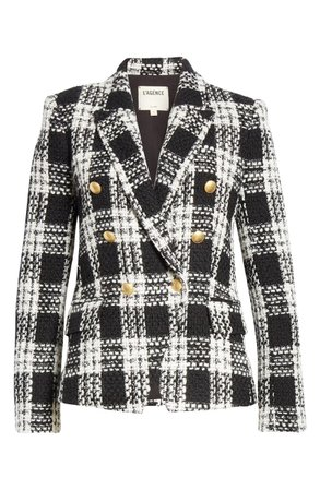 L'AGENCE Kenzie Double Breasted Blazer | Nordstrom