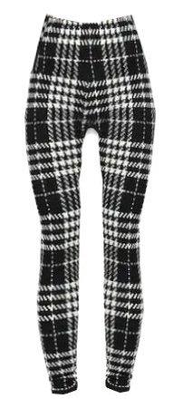 Plaid Skinny Leggings -SheIn(Sheinside)