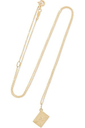 Catbird | Smallest Love Letter 14-karat gold necklace | NET-A-PORTER.COM