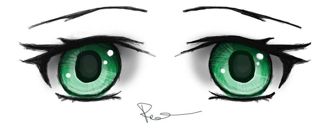 green anime eyes - Google Search