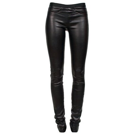 HELMUT LANG Stretch Leather Pant Black